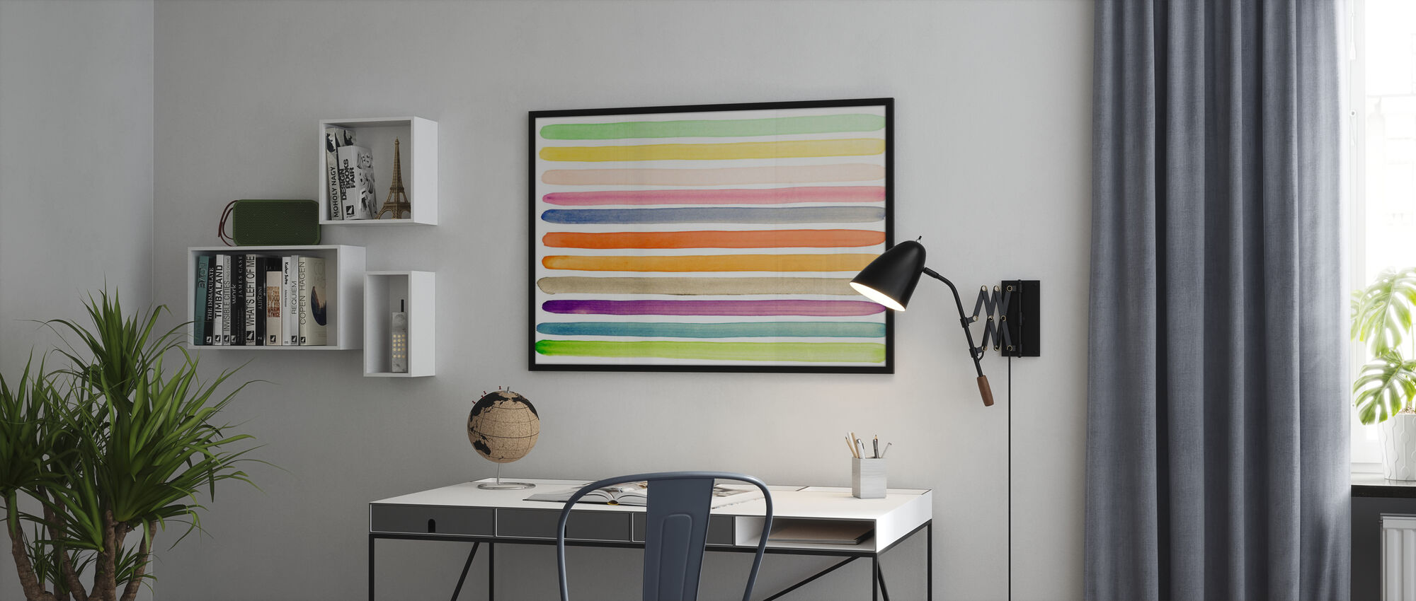 Akvarell Stripes - Plakat - Kontor