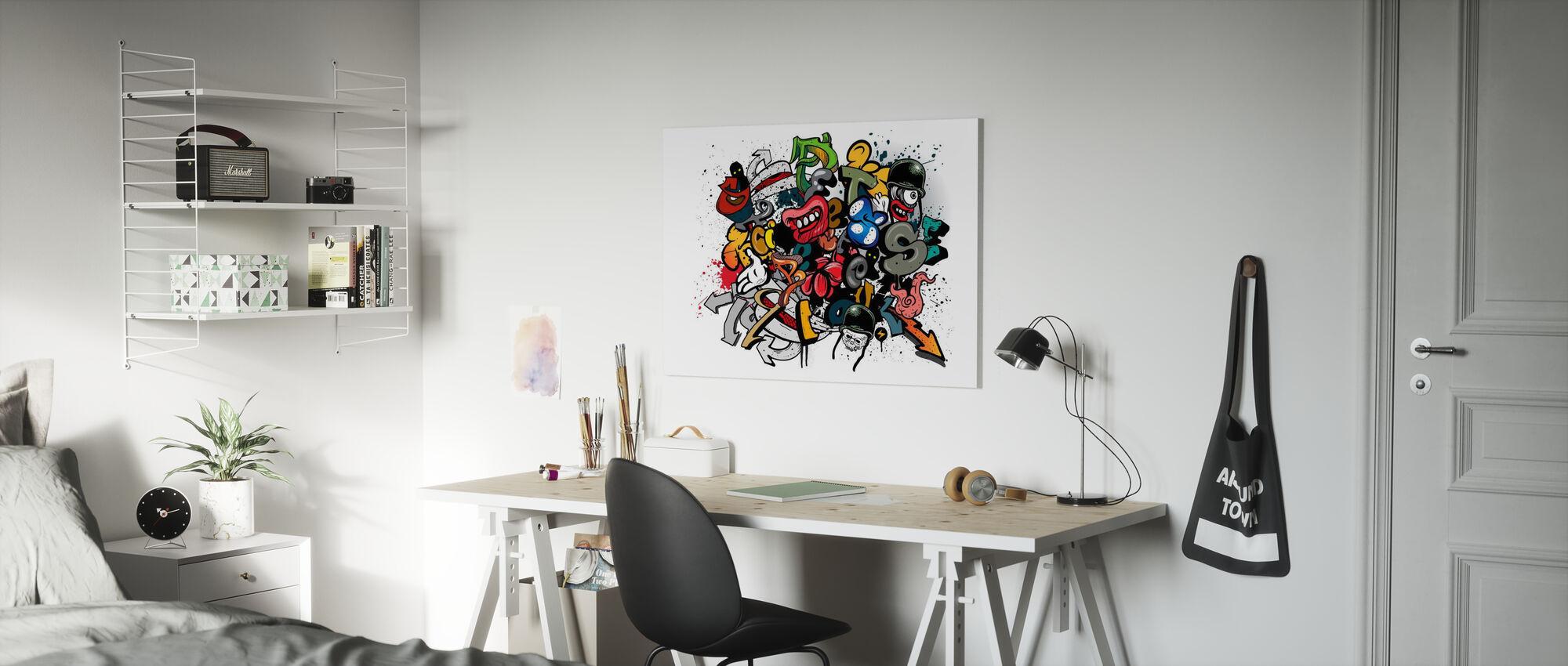 Graffiti Elements - Canvas print - Kids Room