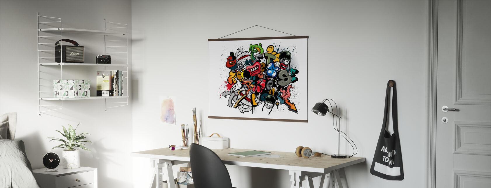 Graffiti-elementer - Plakat - Kontor