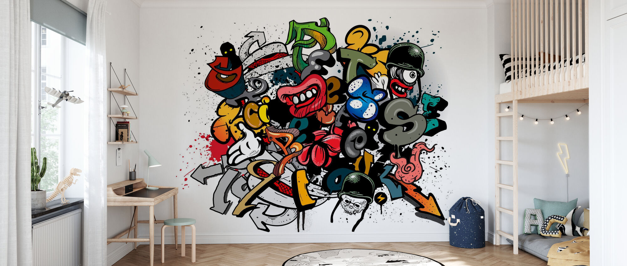 Graffiti element - Tapet - Barnrum