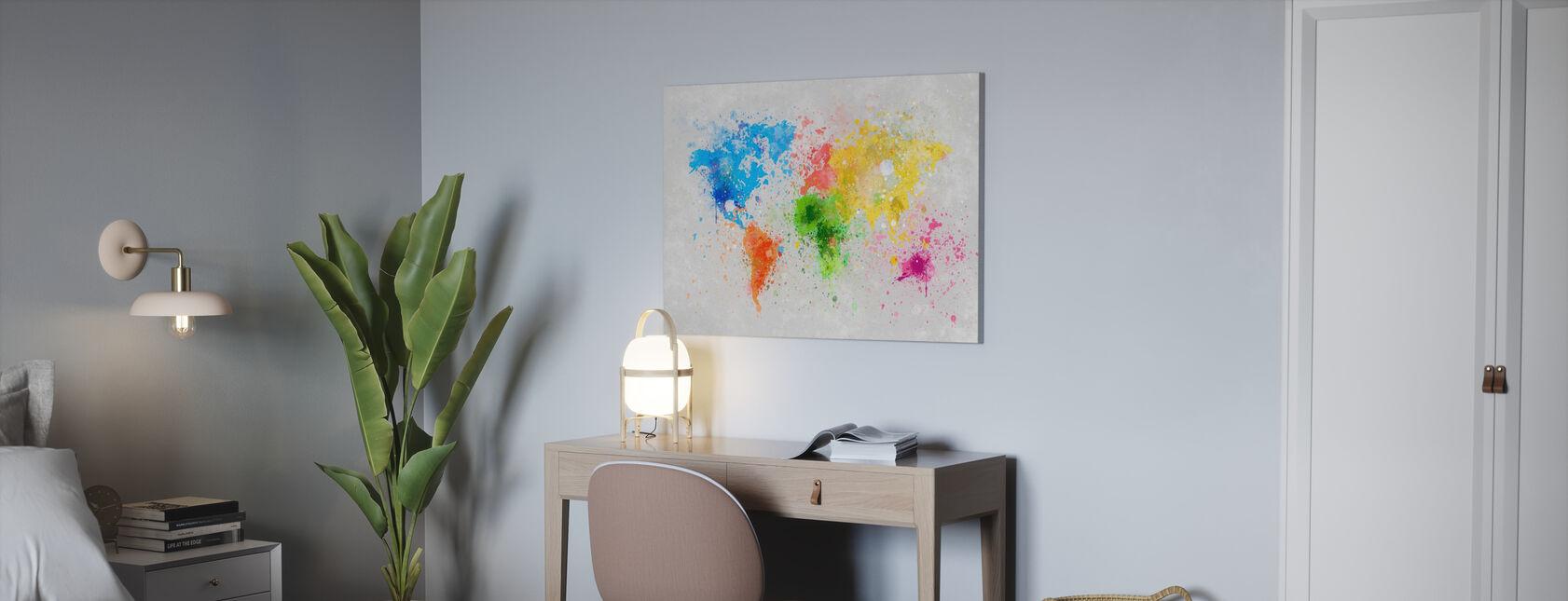 Kleurrijke wereld - Canvas print - Kantoor