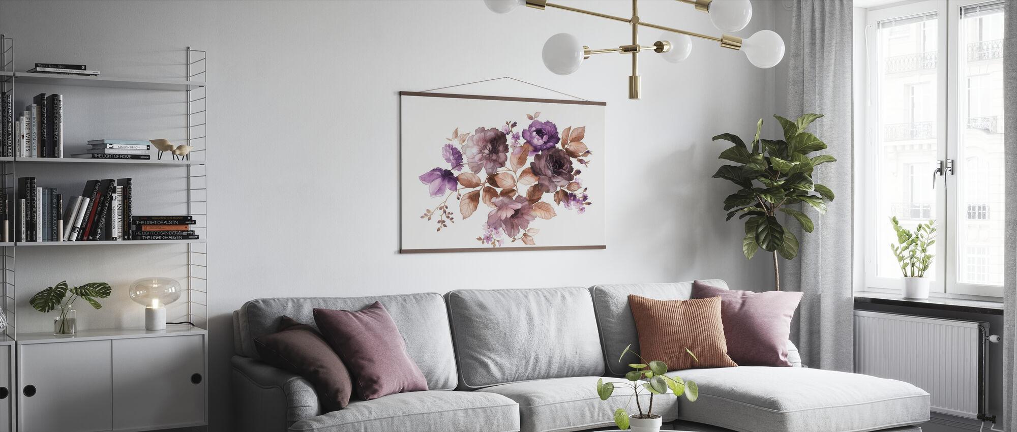 Blumen in Aquarell - Poster - Wohnzimmer