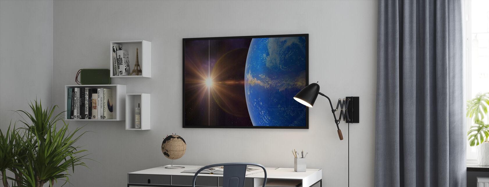 Blauer Planet - Gerahmtes bild - Büro