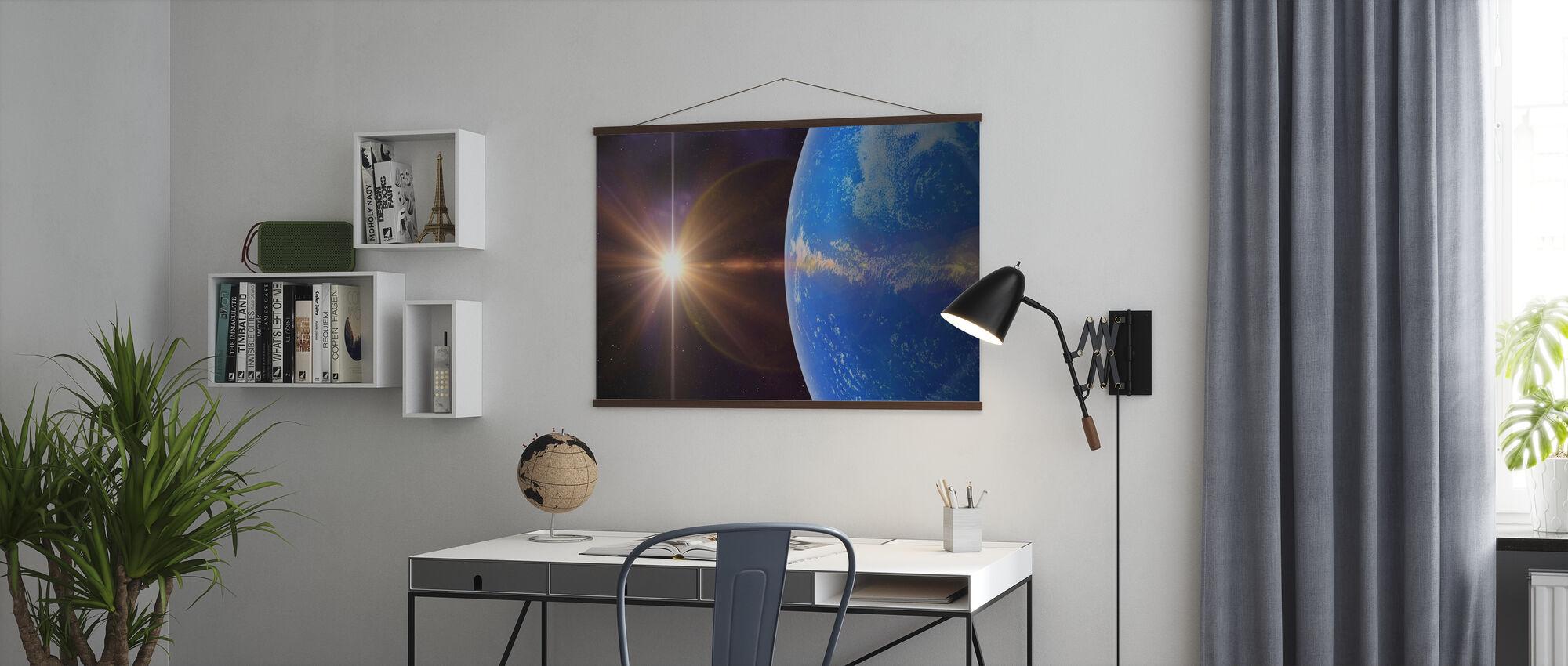 Blauer Planet - Poster - Büro