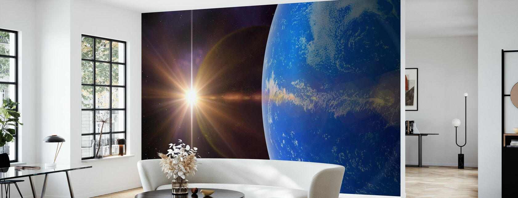 Sininen planeetta - Tapetti - Olohuone