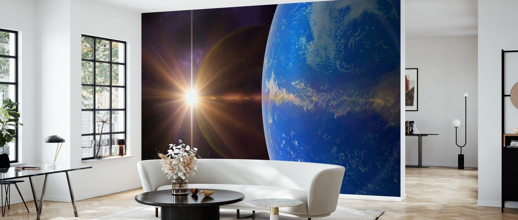 Planète bleue - Papier peint - Salle à manger