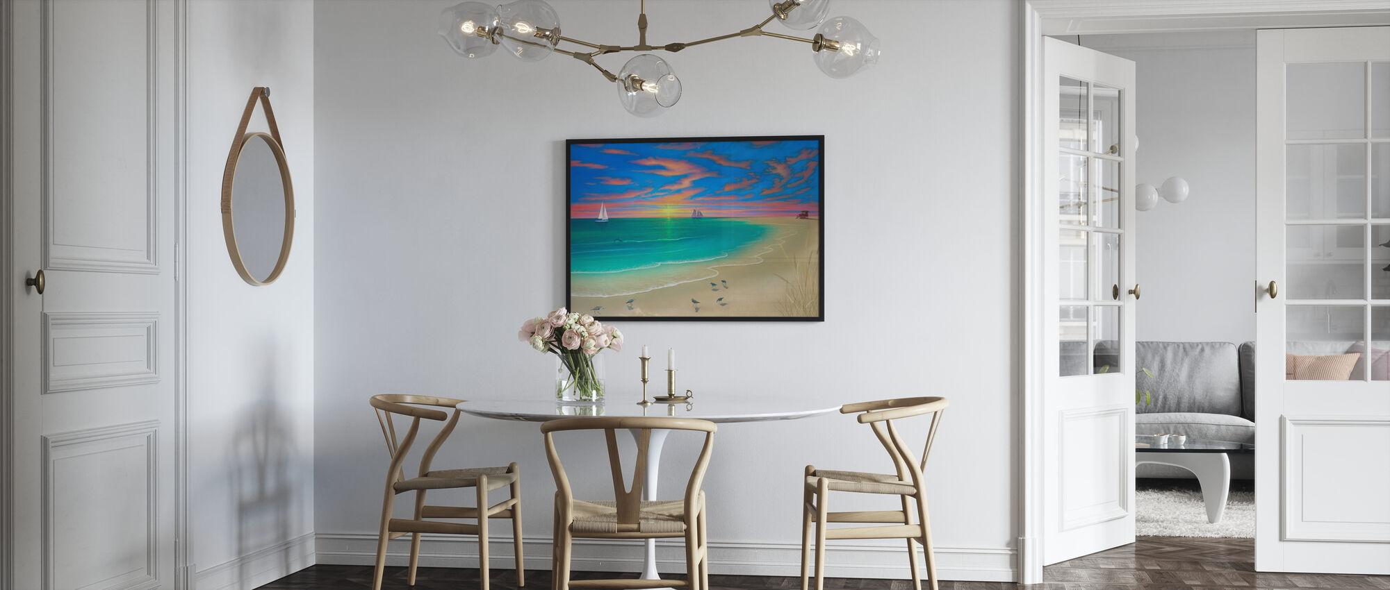 Dag op het strand - Poster - Keuken