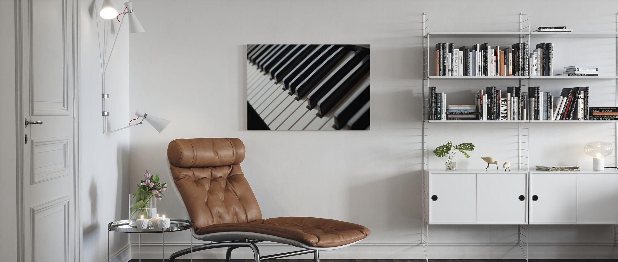 Piano Keyboard - Canvas print - Living Room