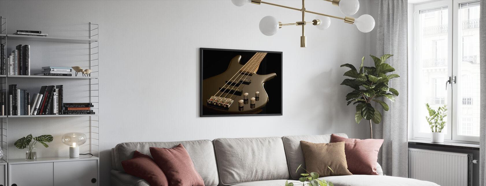 Guitare basse électrique - Affiche - Salle à manger
