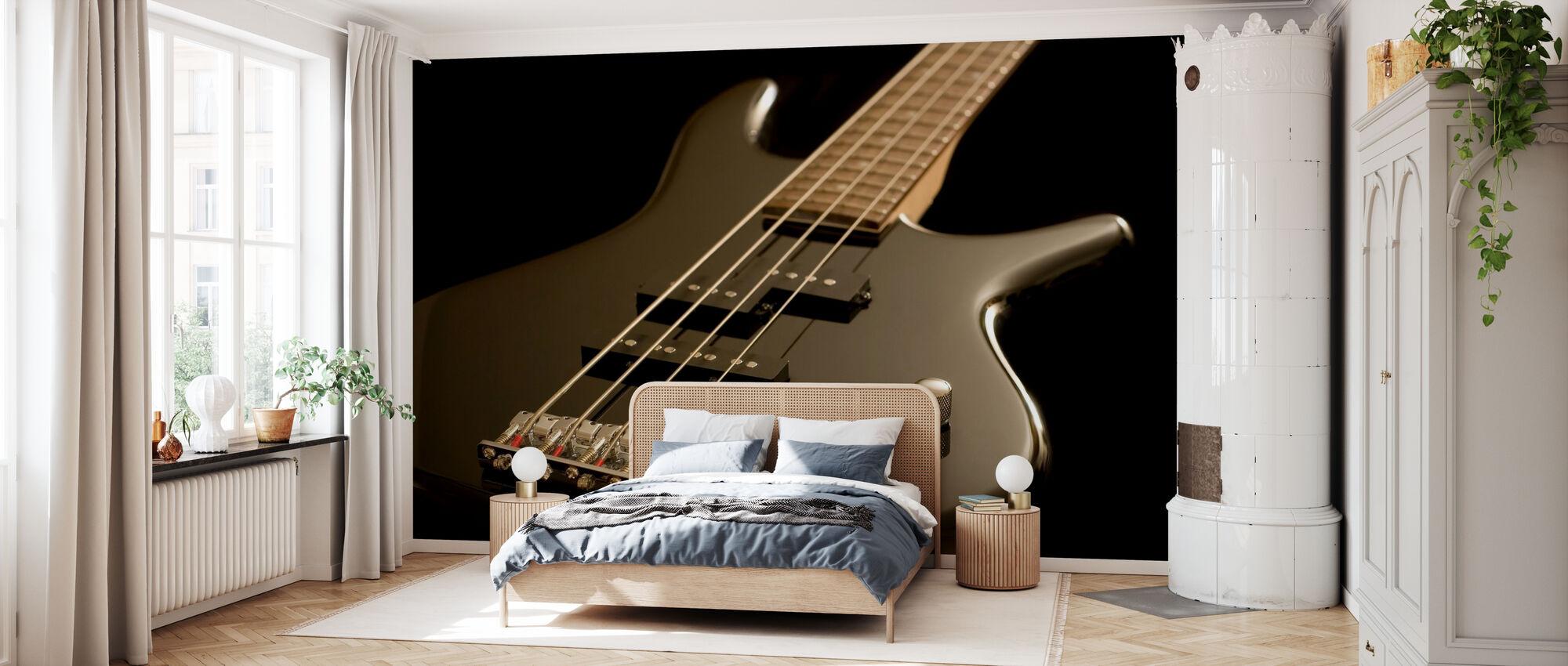 Guitare basse électrique - Papier peint - Chambre