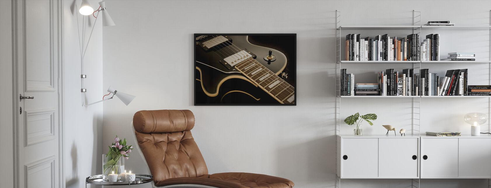 Guitare Vintage - Impression encadree - Salle à manger