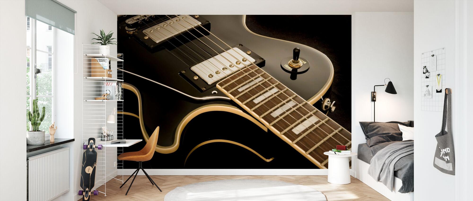 Guitare Vintage - Papier peint - Chambre des enfants