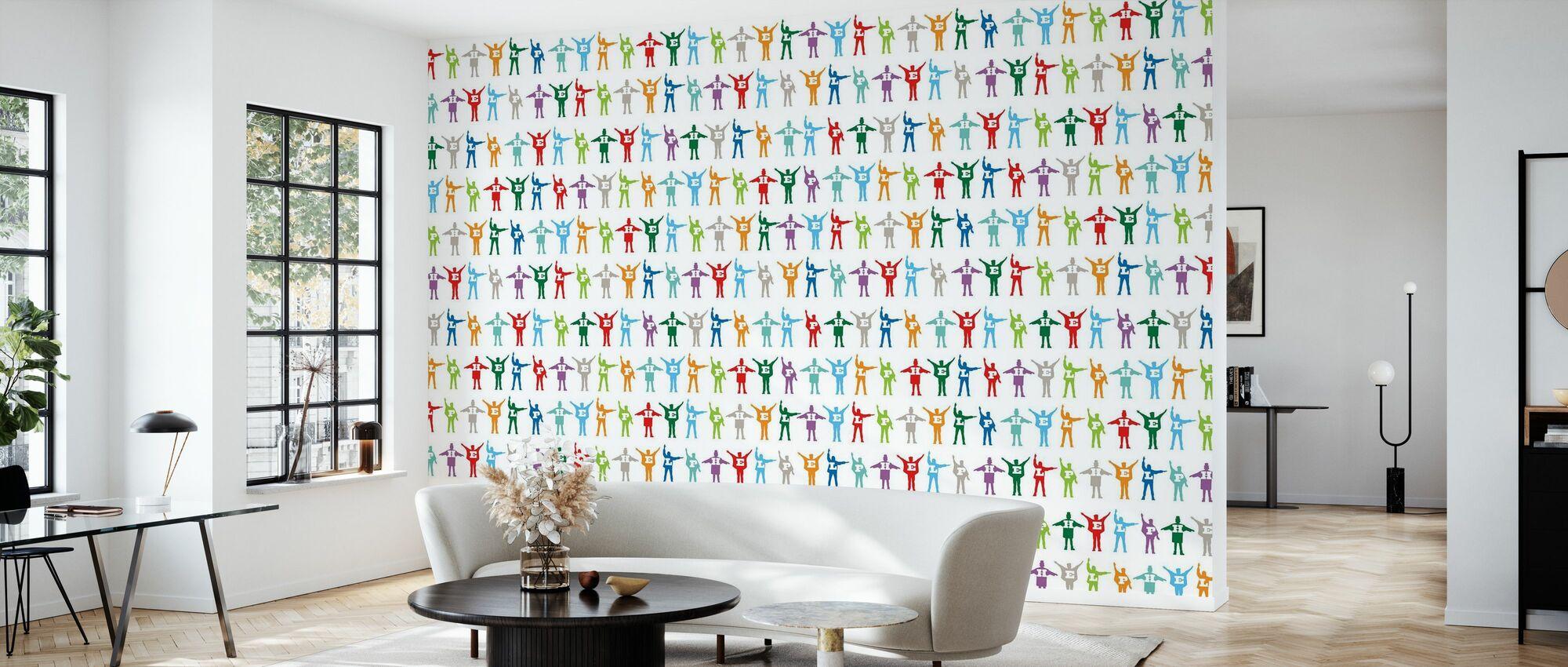 Beatles - Help Pattern - Wallpaper - Living Room