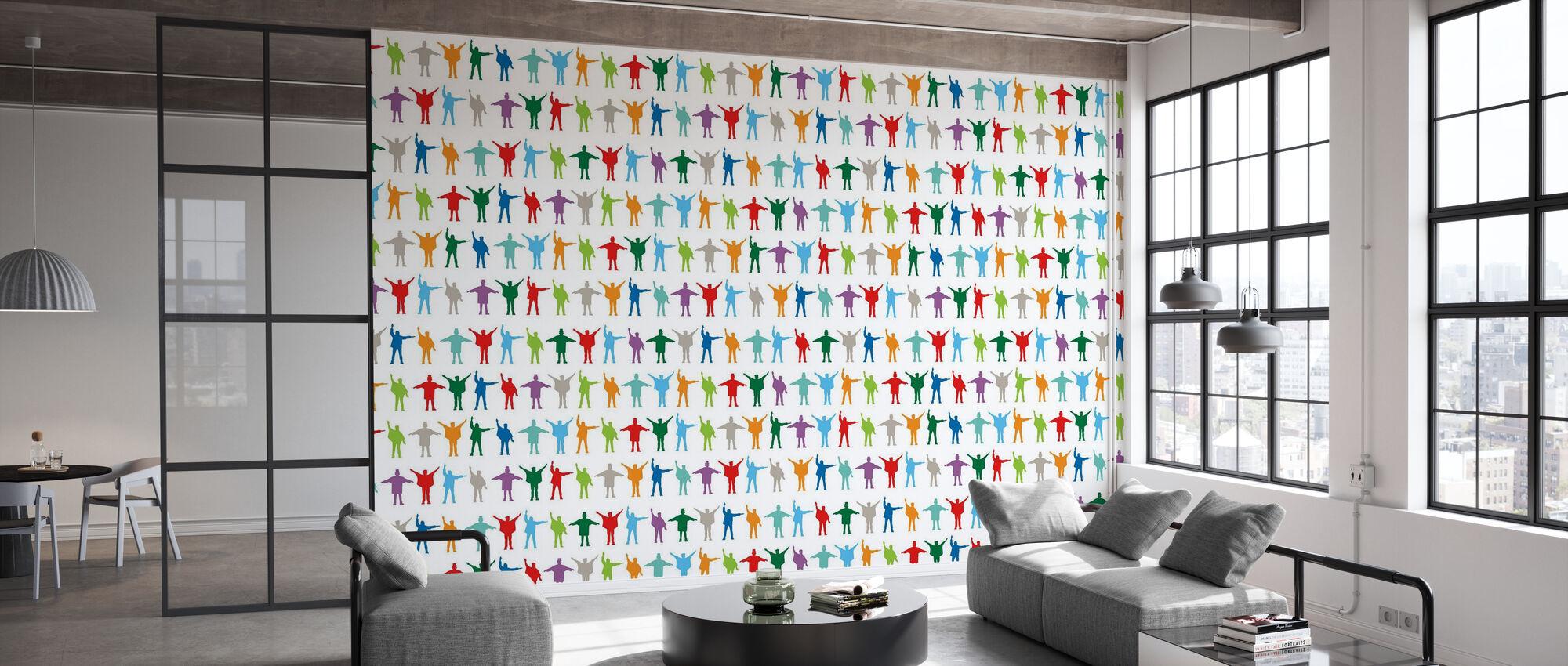 Beatles - Pattern - Wallpaper - Office