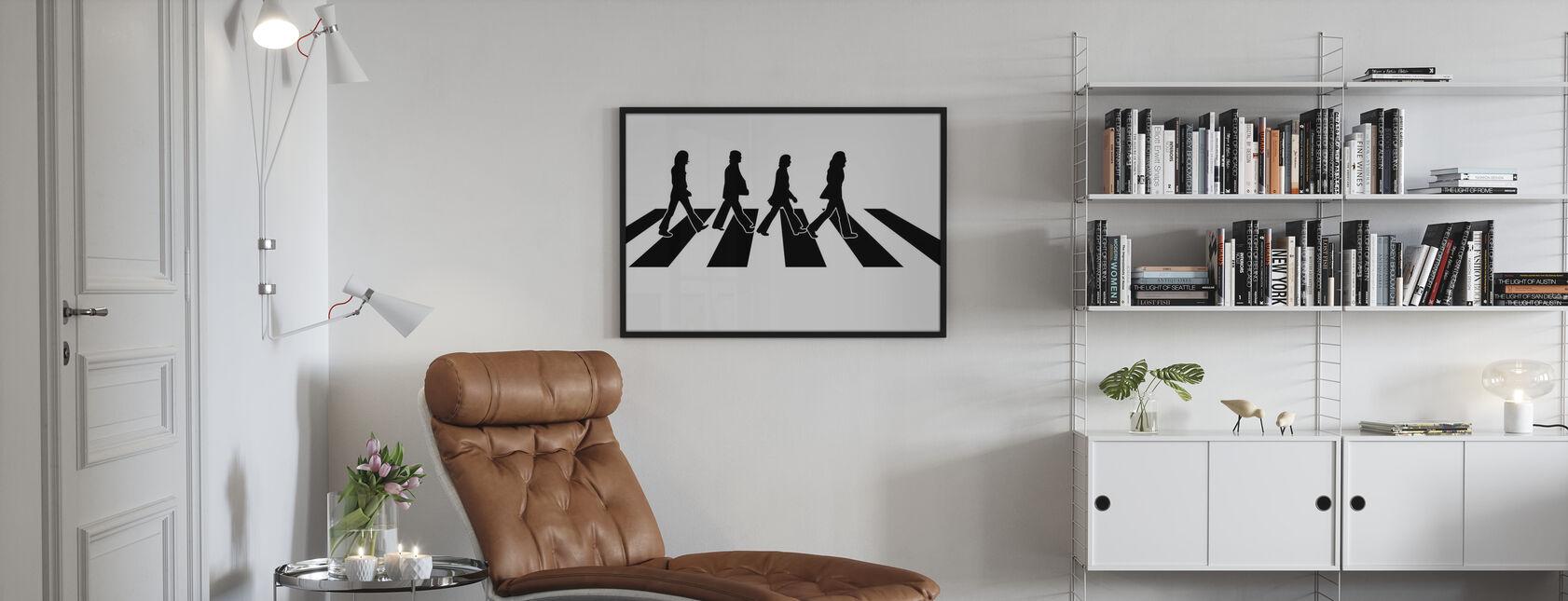 Beatles - Ilustración de la carretera Abbey - Print enmarcado - Salón
