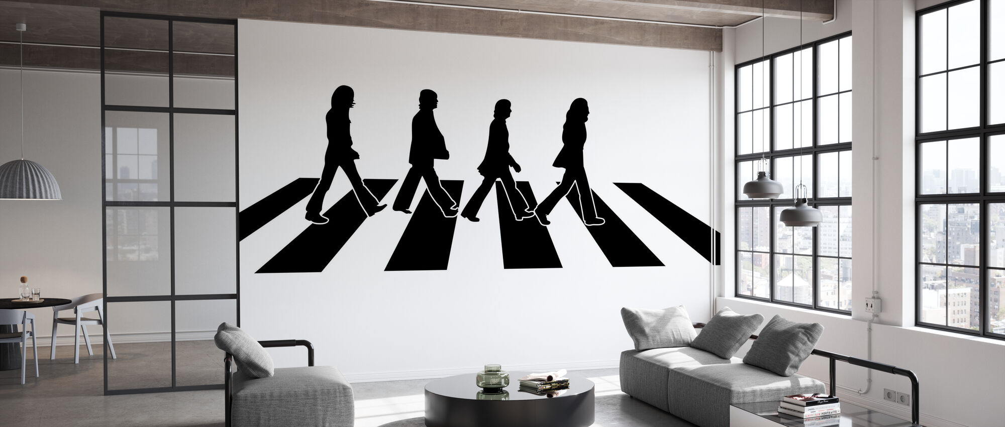 Beatles - Abbey Road Illustration - Tapete - Büro