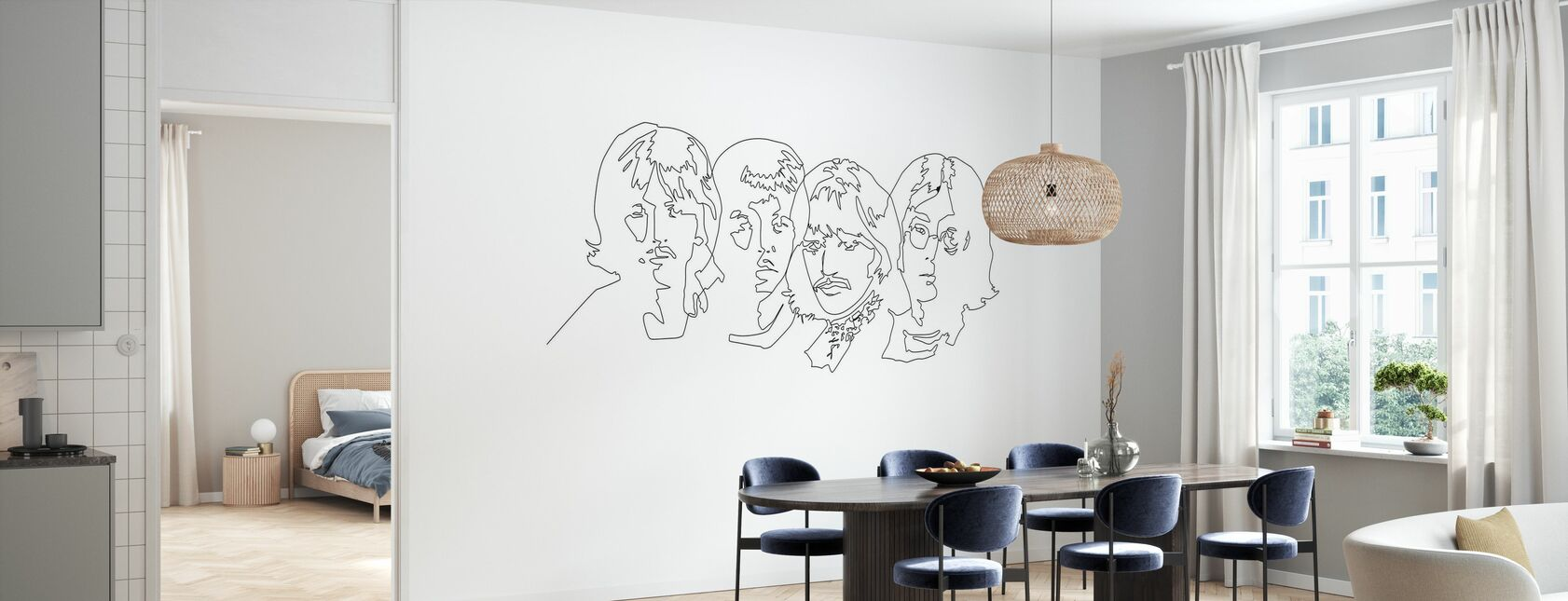 Beatles - Outline - Wallpaper - Kitchen