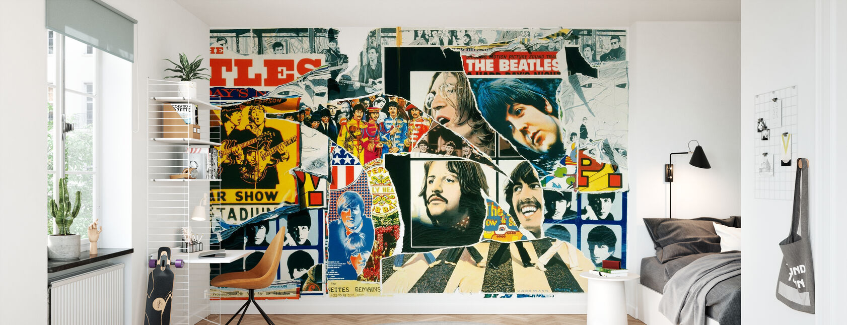Beatles - Vintage Juliste Wall - Tapetti - Lastenhuone