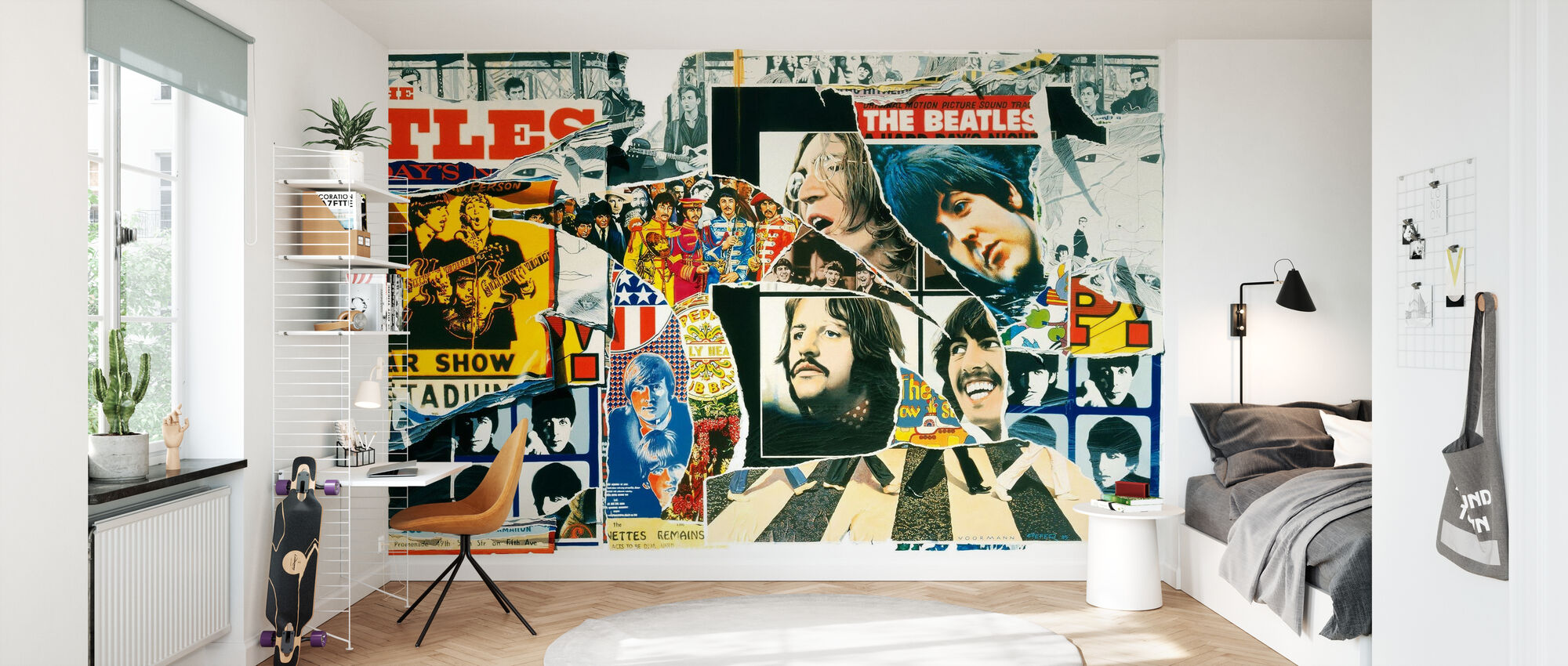Beatles - Vintage Poster muur - Behang - Kinderkamer