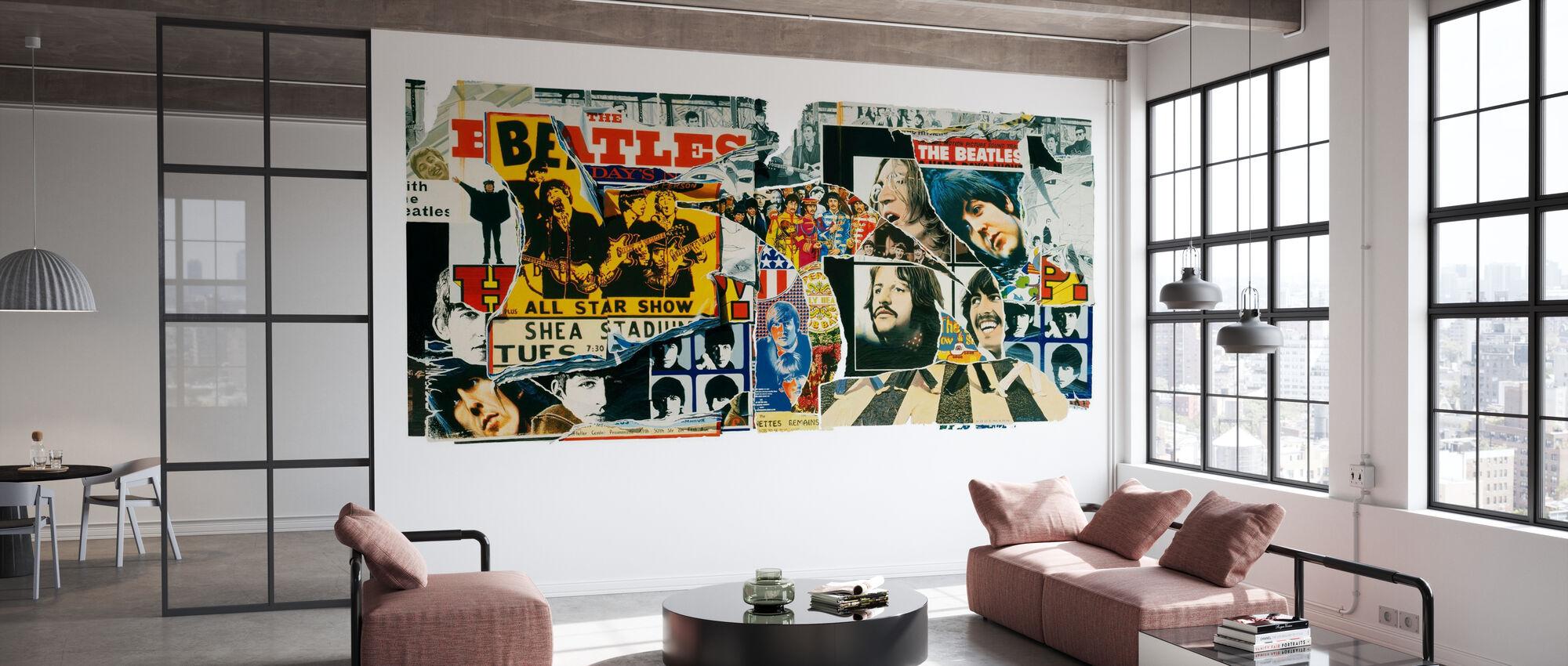 Beatles - Vintage Posters - Wallpaper - Office