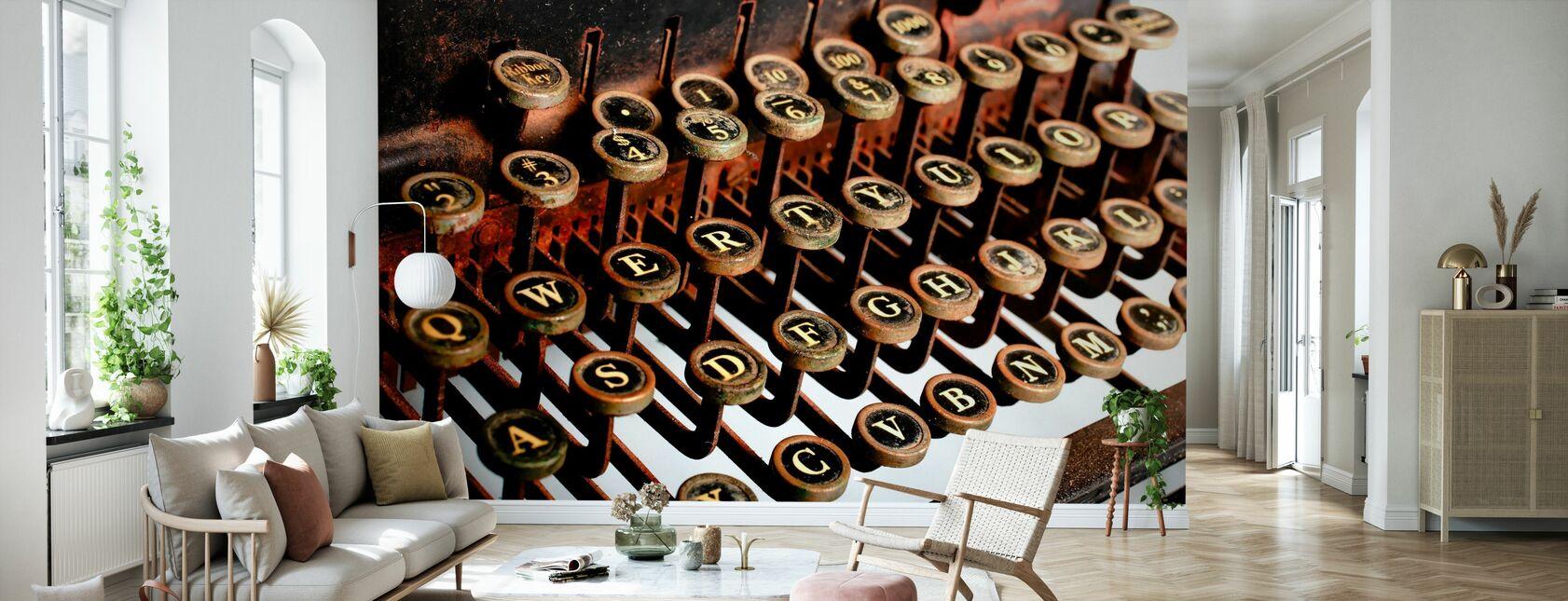 Macchina da scrivere vintage - Carta da parati - Salotto