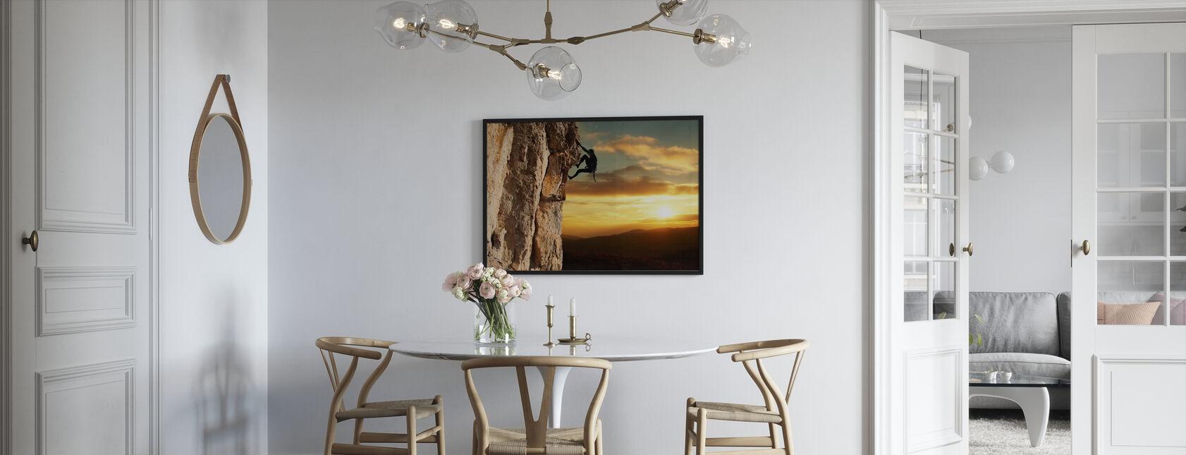 Rock klimmer - Ingelijste print - Keuken