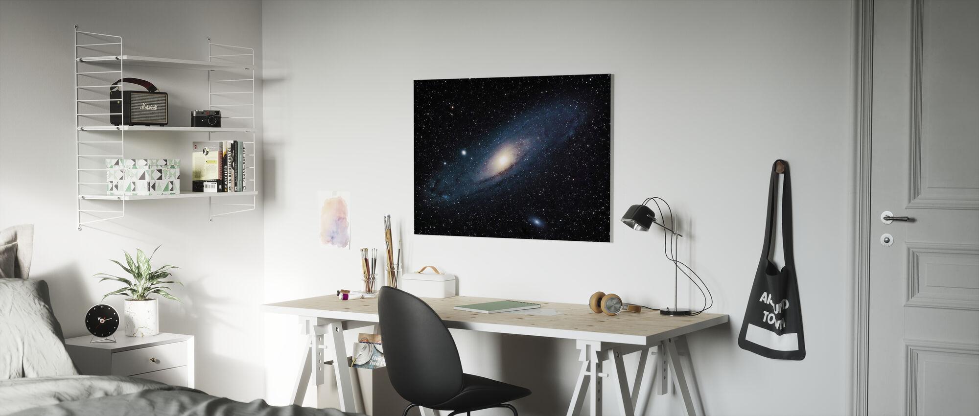 Andromeda Galaxy - Canvastaulu - Lastenhuone