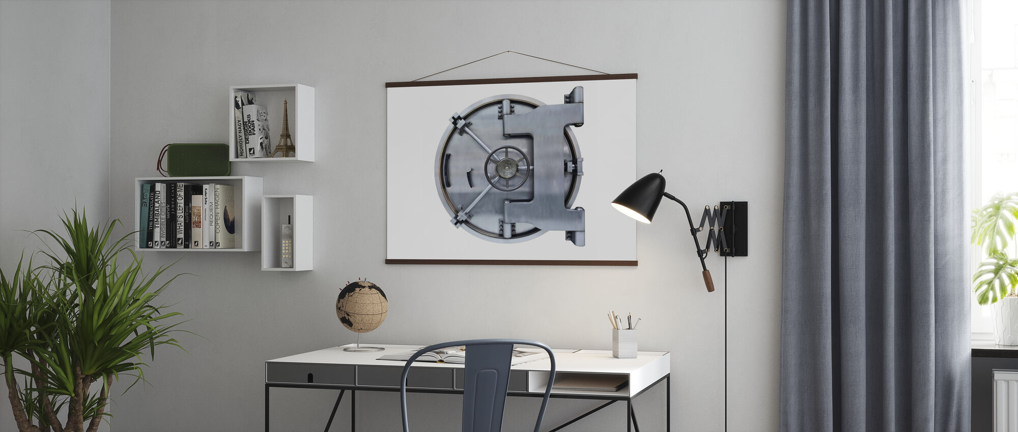 Steel Vault Door - Poster - Office