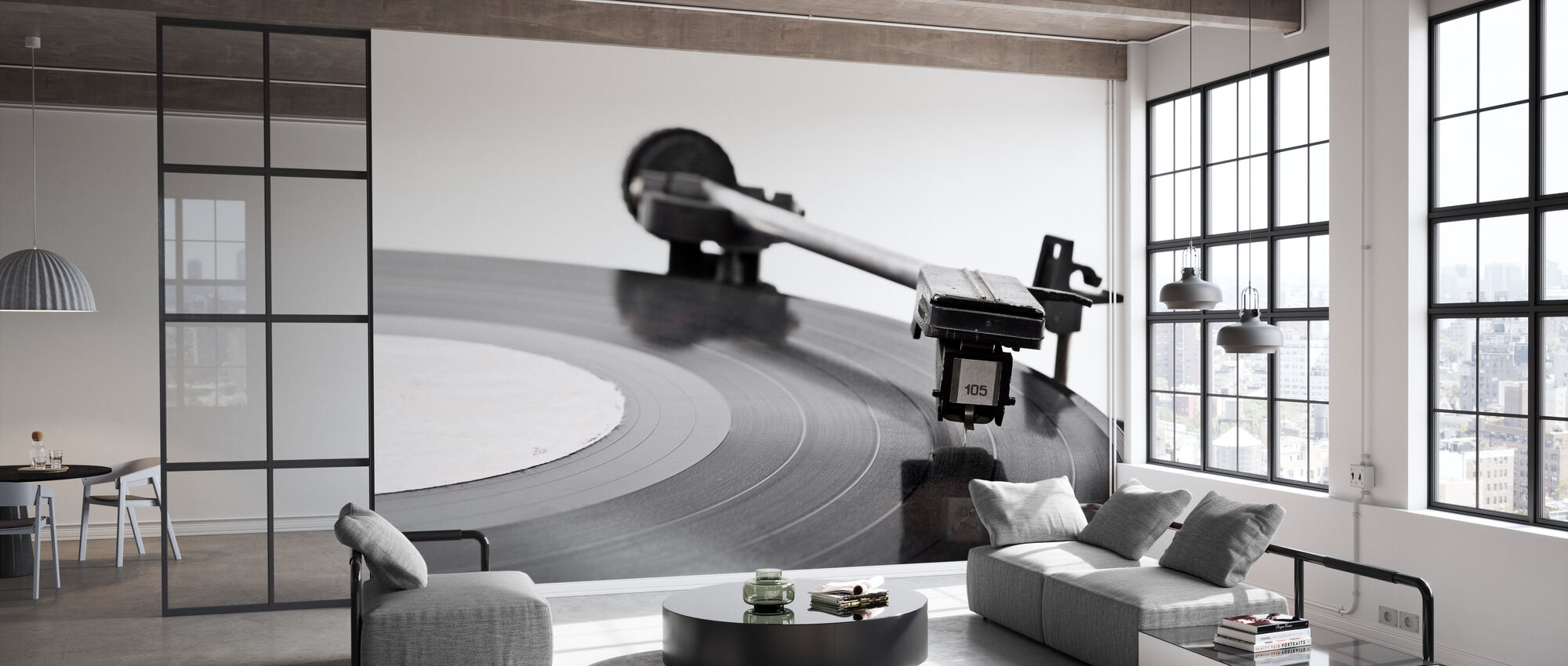 Old Vinyl Player - Tapete - Büro