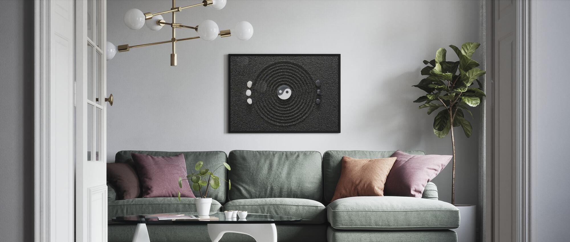 Zen i sort sand - Plakat - Stue