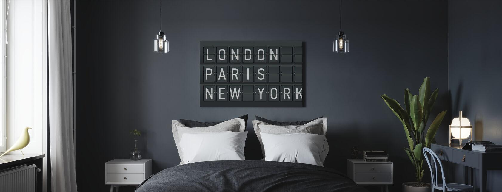 Londres - Paris - New York - Impression sur toile - Chambre