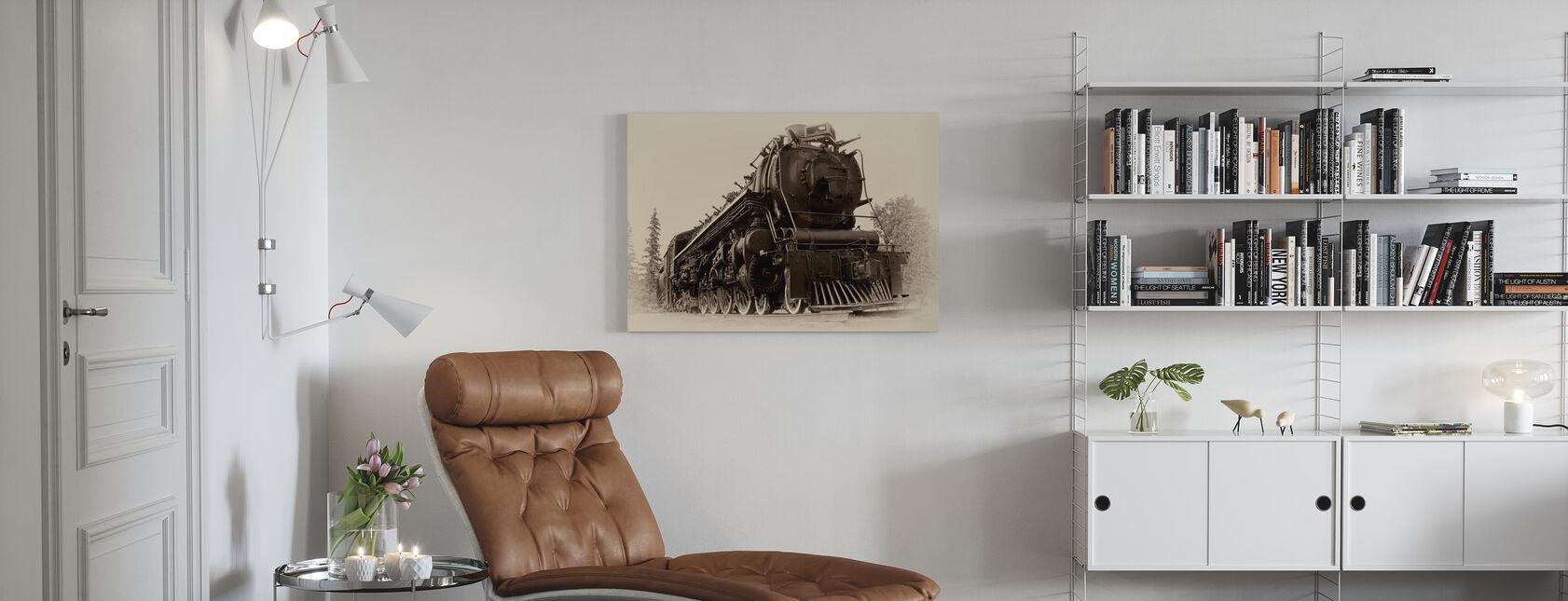 Stoomlocomotief - Canvas print - Woonkamer