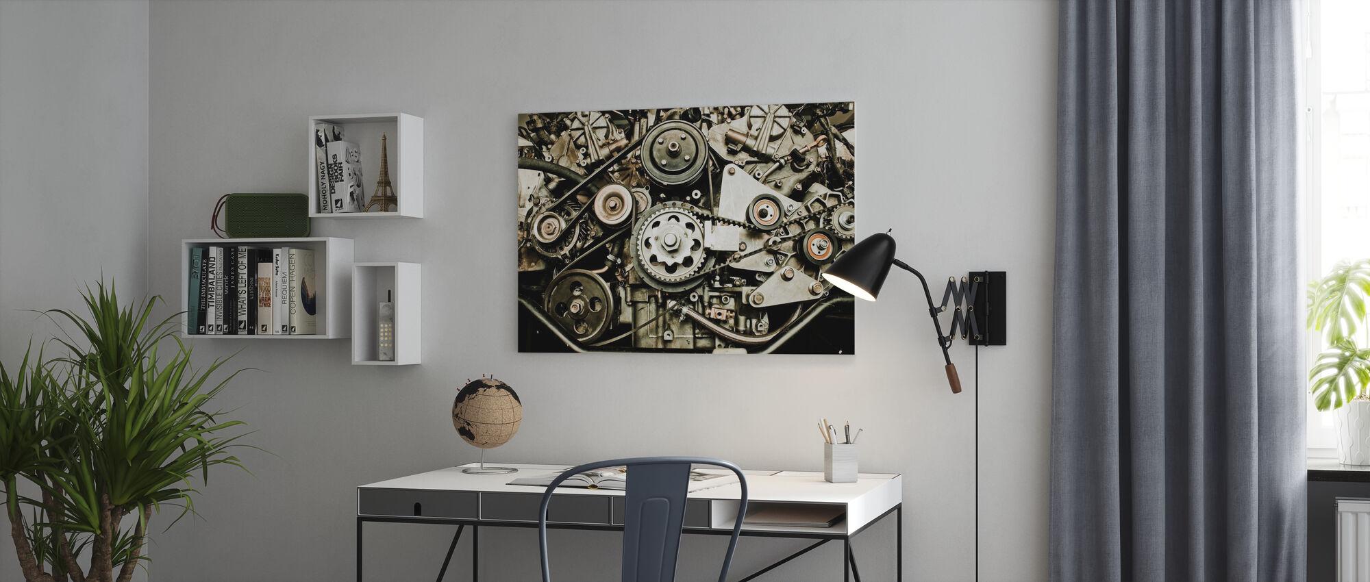 Car Engine - Canvas print - Office