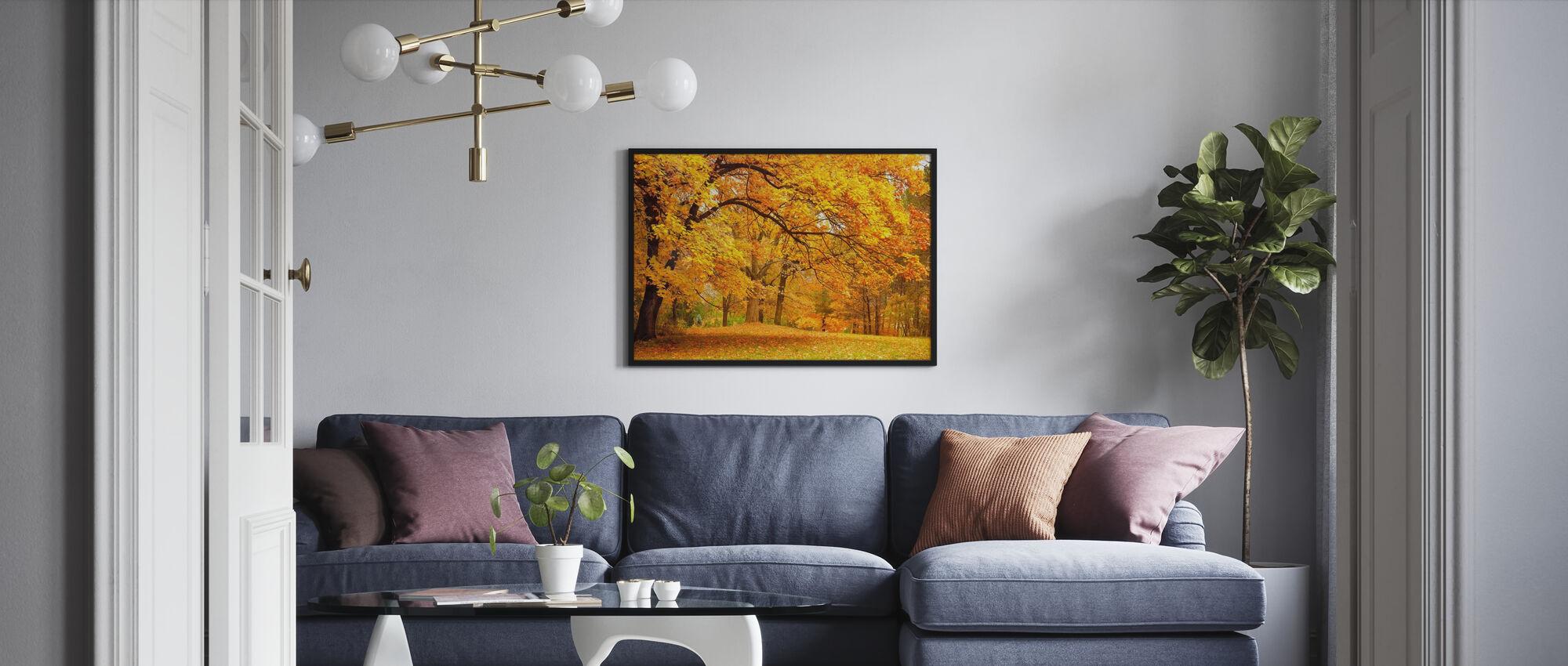 Kleurrijke Herfst Bladeren - Ingelijste print - Woonkamer