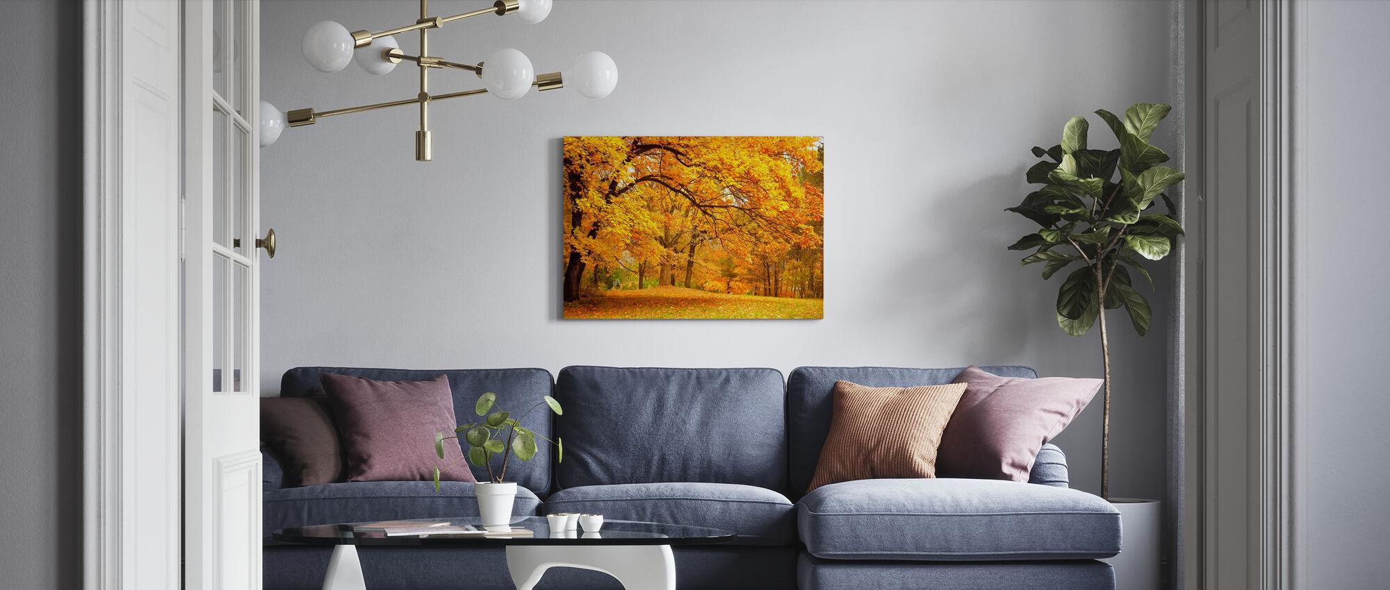 Kleurrijke Herfst Bladeren - Canvas print - Woonkamer