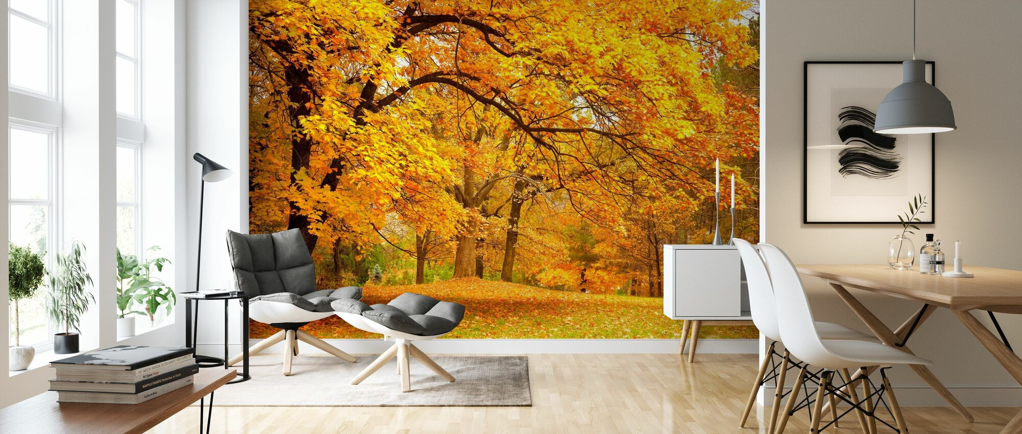 Colorful Autumn Leaves - Wallpaper - Living Room