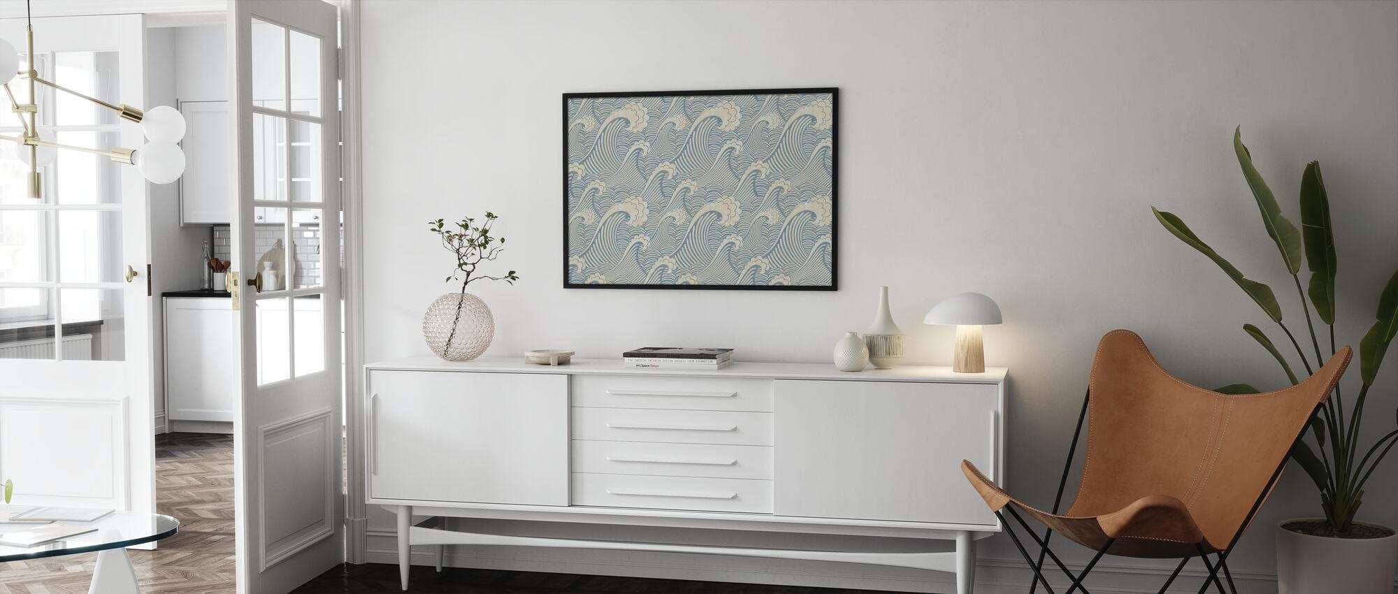 Bølger Mønster - Plakat - Stue
