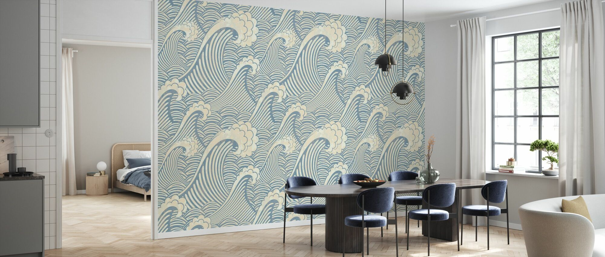 Waves Pattern - Wallpaper - Kitchen