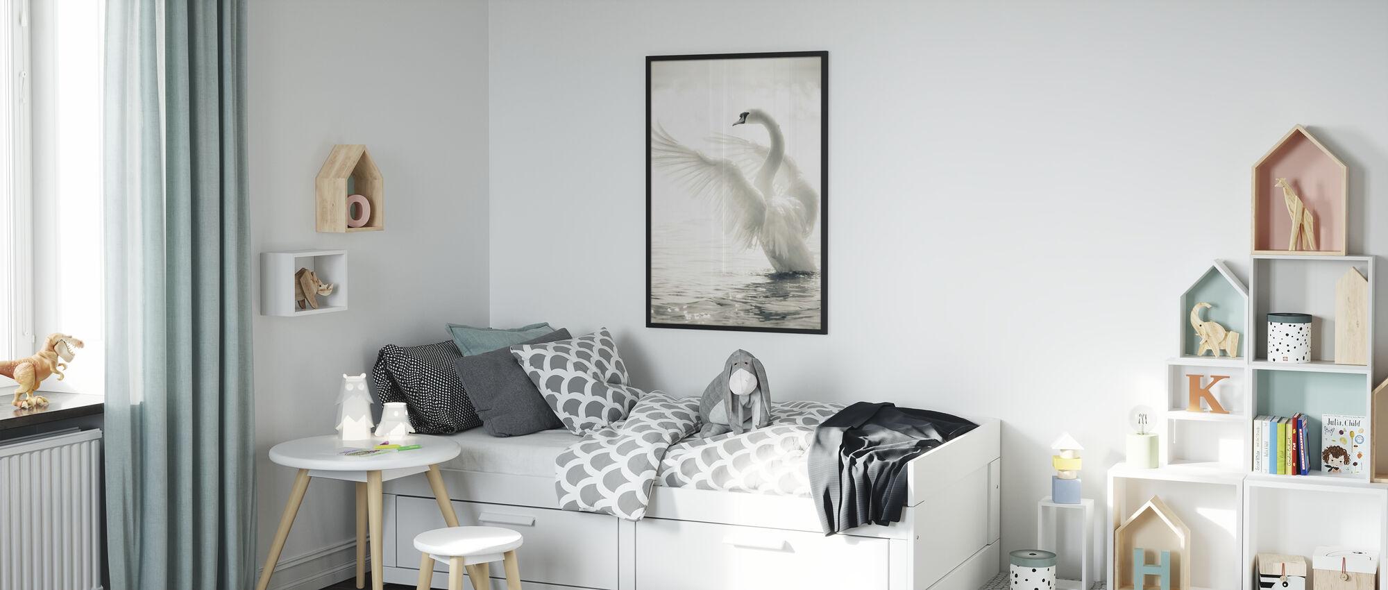 Graceful Swan - Framed print - Kids Room