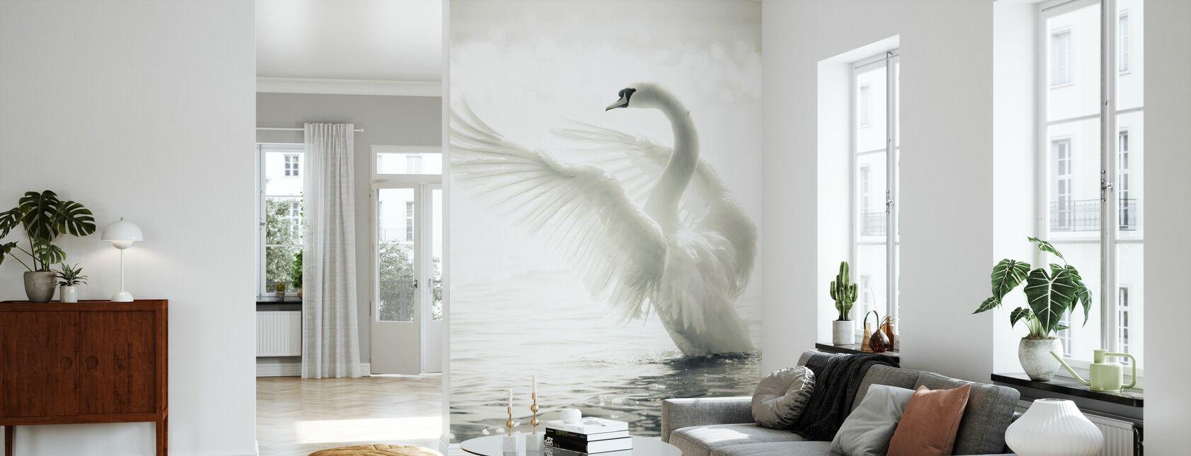 Graceful Swan - Wallpaper - Living Room