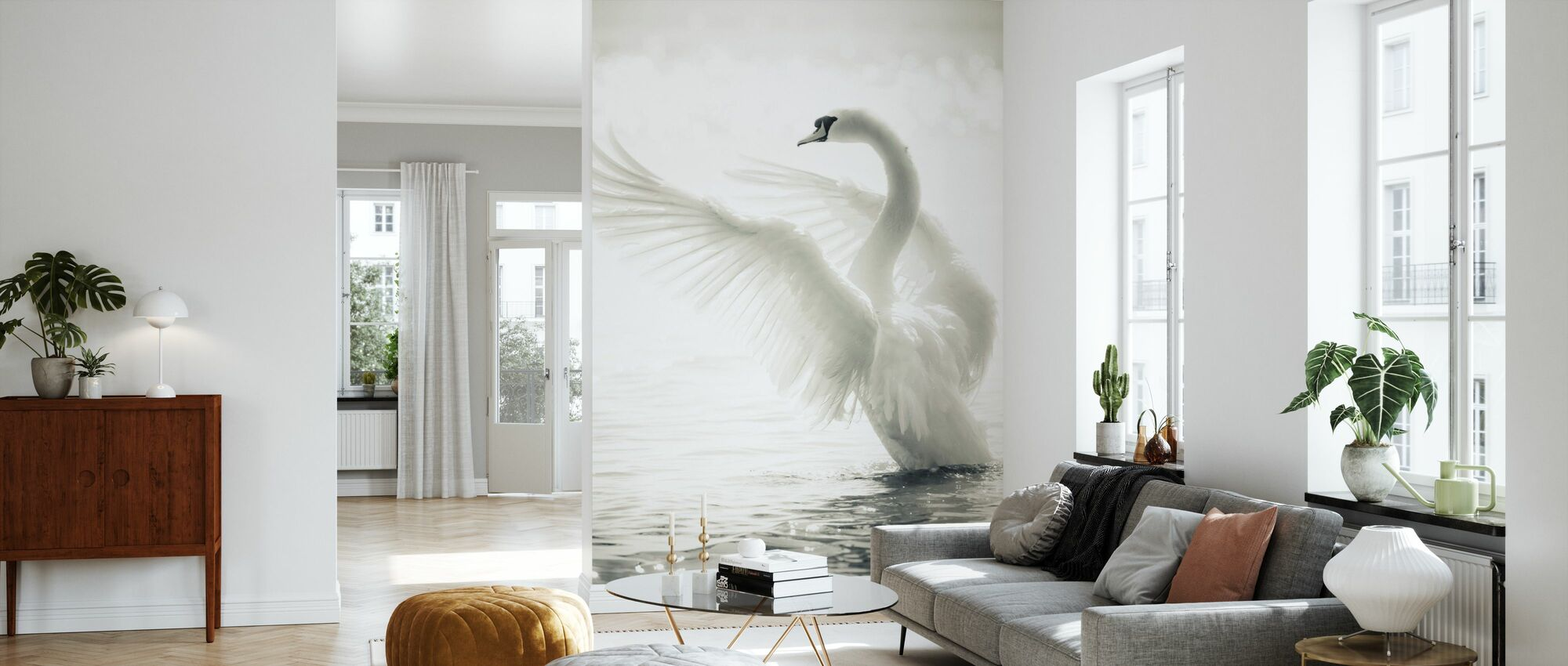 Graciös Swan - Tapet - Vardagsrum