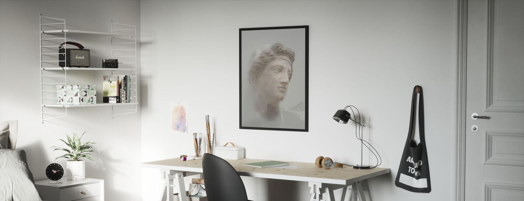 Griekse vrouwelijke buste - Ingelijste print - Kinderkamer