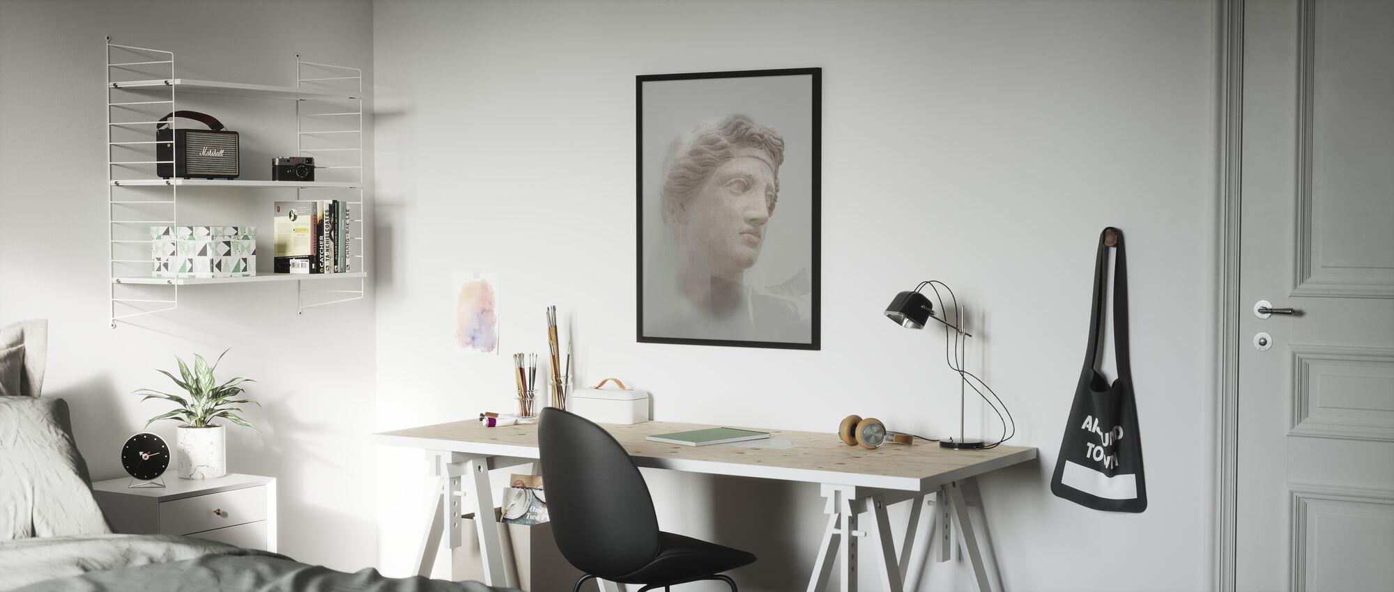 Greek Female Bust - Framed print - Kids Room