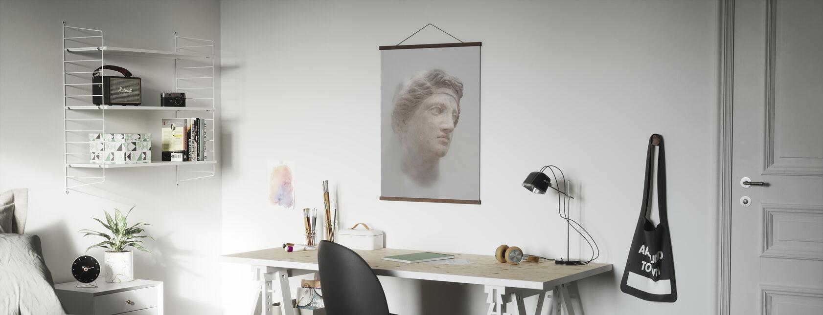 Griechische Frauenbüste - Poster - Büro