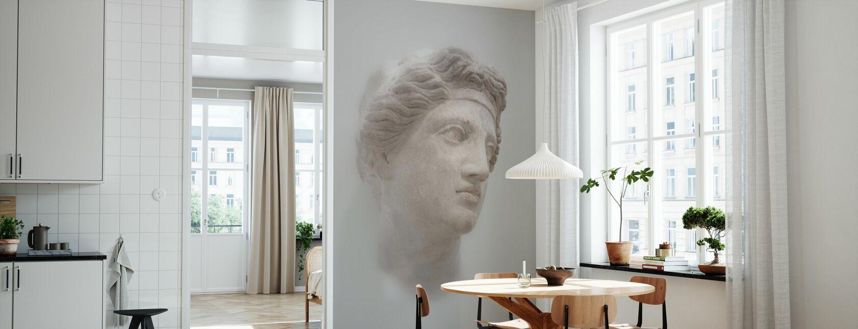 Griekse vrouwelijke buste - Behang - Keuken
