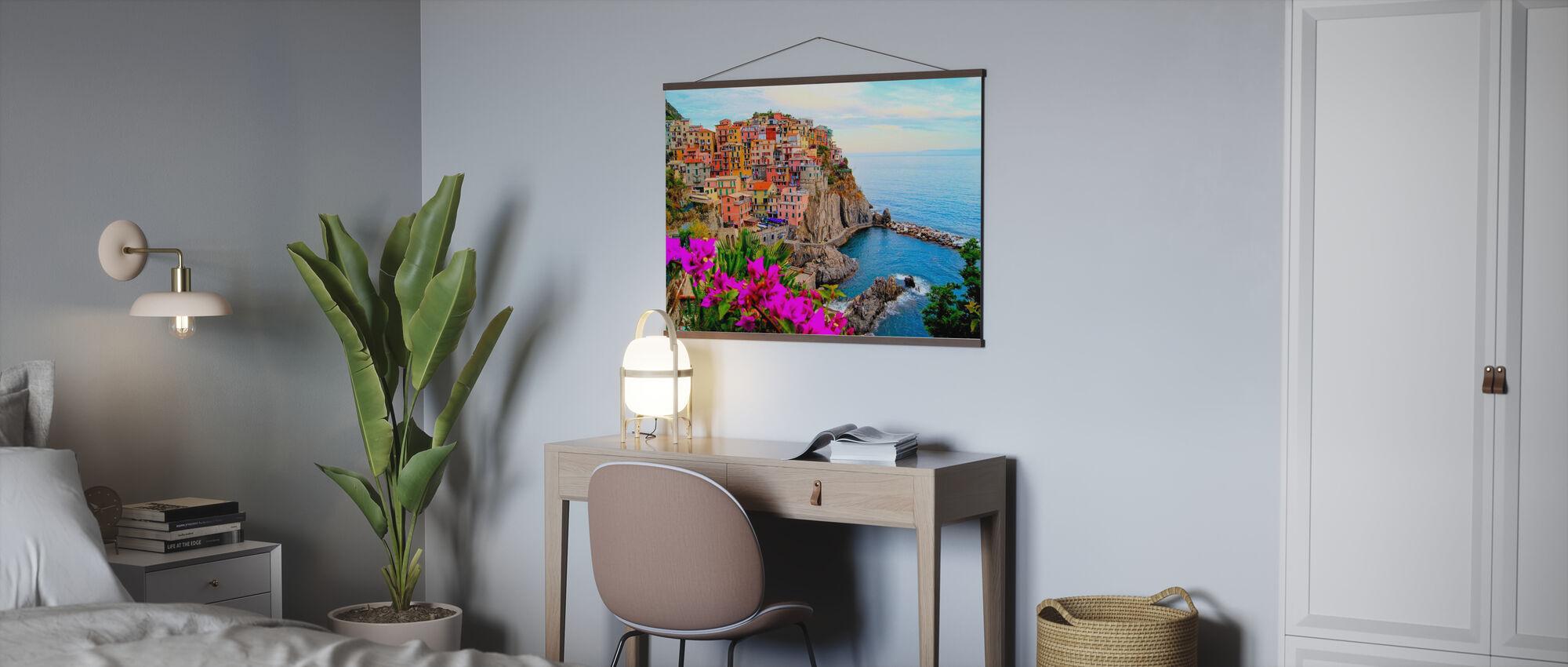 Dorf Manarola, Italien - Poster - Büro