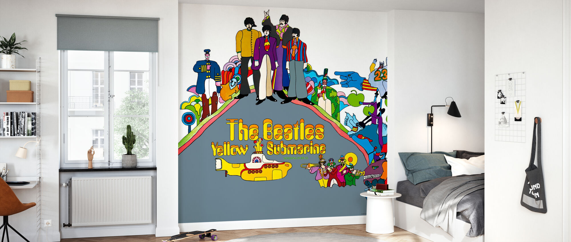 Beatles - Gelbes U-Boot - Tapete - Kinderzimmer