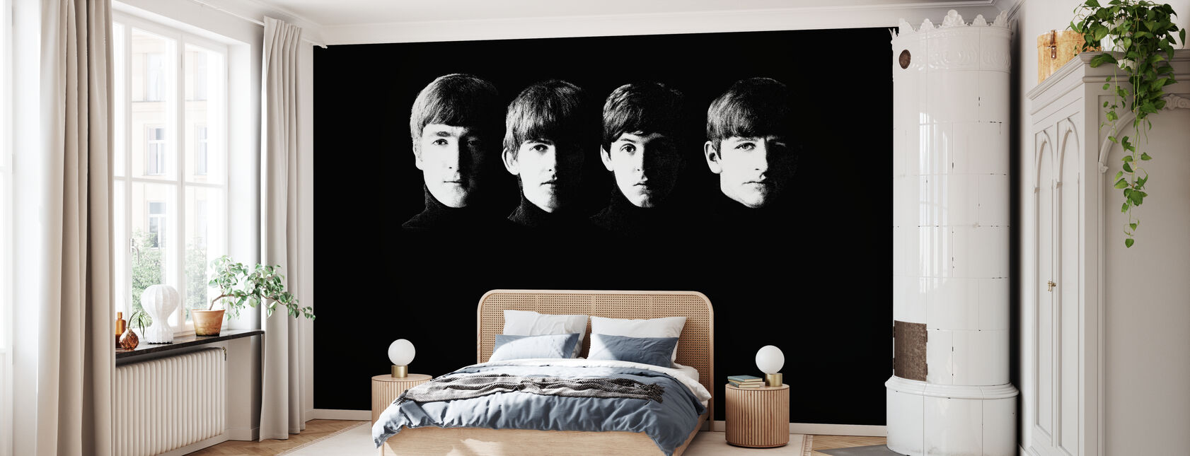 Beatles - Korrelig - Behang - Slaapkamer