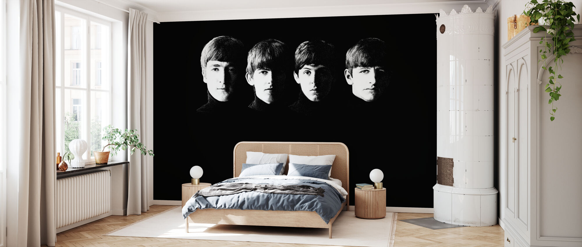 Beatles - Grainy - Wallpaper - Bedroom