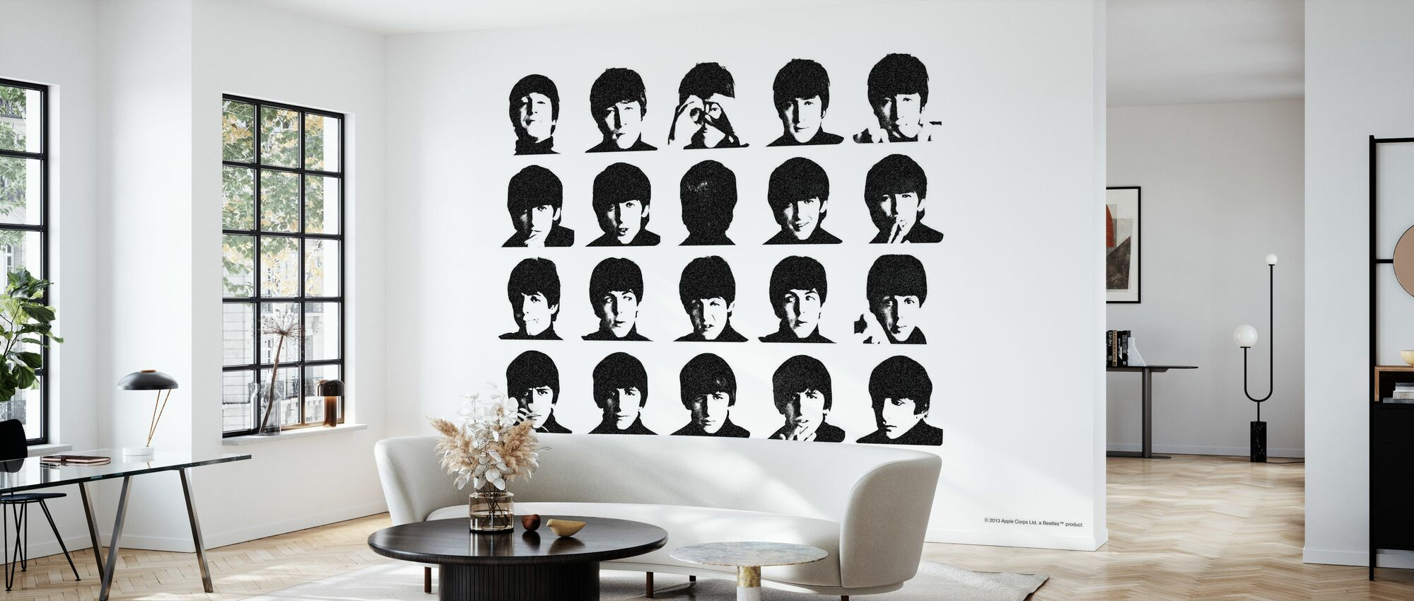 Beatles - Hard Days Night - Wallpaper - Living Room